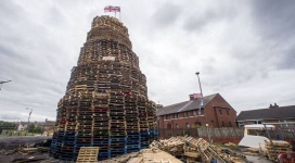 Bonfire in Belfast