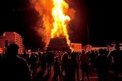 Bonfire is set fire