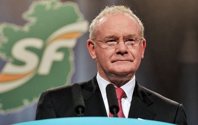 The late Martin McGuinness, deputy First Minister of Northern Ireland.